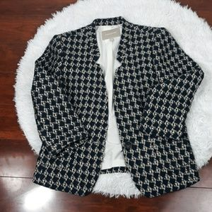 Banana Republic Blue and Tan Tweed Blazer 10